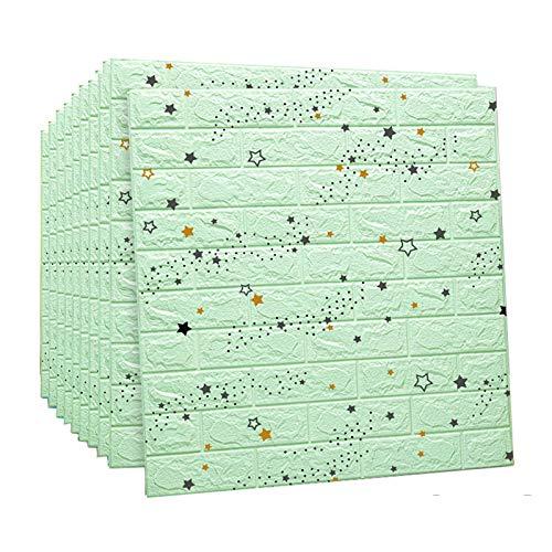3D Papel Pintado Ladrillo Paquete de 10 paneles de pared 3D desmontable...