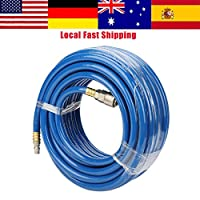 XYUANG 15M Blue Flexible Pneumatic PVC Hose with Quick Connector for Air Compressor