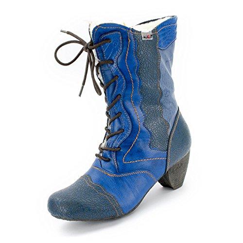 TMA Damen 8991 Winter-Stiefeletten Jeansblau 39