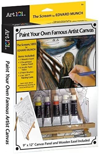 Art 101 Famous Artist Canvas Collection - The Scream by Art 101
