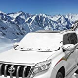 Cosyzone Car Windshield Hail Cover, Windshield Cover for Ice and Snow with 4 Layers Protector & Magnets Double Fixed Design All Weather Outdoor Car Snow Covers,UV-Resistant Windshield is Fits Any Car