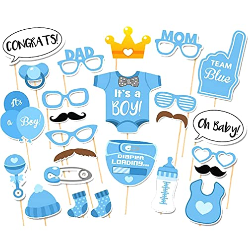 SHONCO Decoración para baby shower, 25 piezas de accesorios para fiesta de cumpleaños para niños y niñas