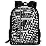 Lmtt Mochila Polinesia Estilo étnico Manga Tatuaje Bookbag Casual Bolsa de Viaje para Adolescentes...