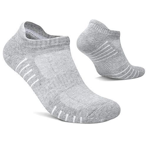 TUUHAW Sneaker Socken Herren Damen 8 Paar Laufsocken Kurze Schwarz Weiß Grau Sportsocken Atmungsaktiv Hellgrau 39-42