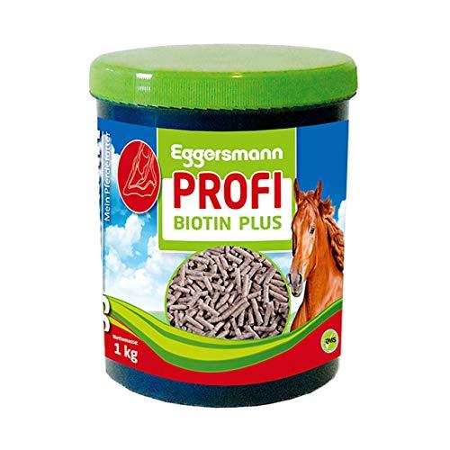 Eggersmann Profi Biotin Plus – Ergänzungsfuttermittel für Pferde – Unterstützung für stabile Hufe und Haare – 1 kg Dose
