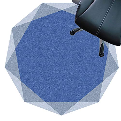 XJRS Stuhl unterlagen stuhlmatte Für Hartholzböden, Kurzflorige Teppiche, Antirutsch, rutschfeste Unterlage, Easy to Clean, Bodenschutzmatte(Size:100cm,Color:C.)