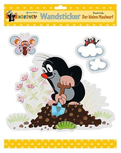 Edition Trötsch 48601 Wiederverwendbare Wandsticker der kleiner Maulwurf, 4 Fach Sortiert