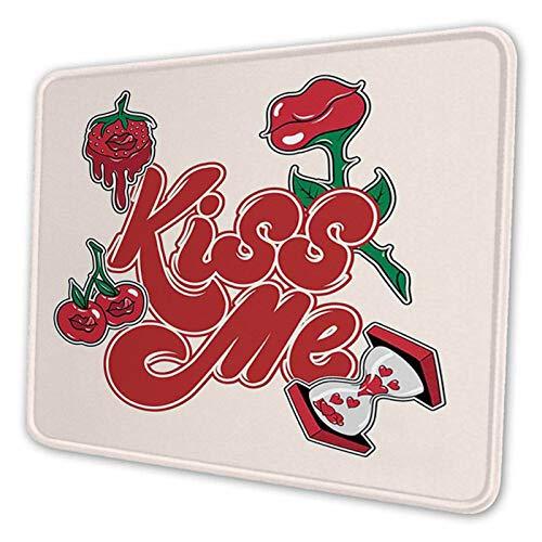 Hand kalligrafi stil fras nittio-stil retro ros, anpassad musmatta personlig design halkfri gummi musmatta för bärbar dator