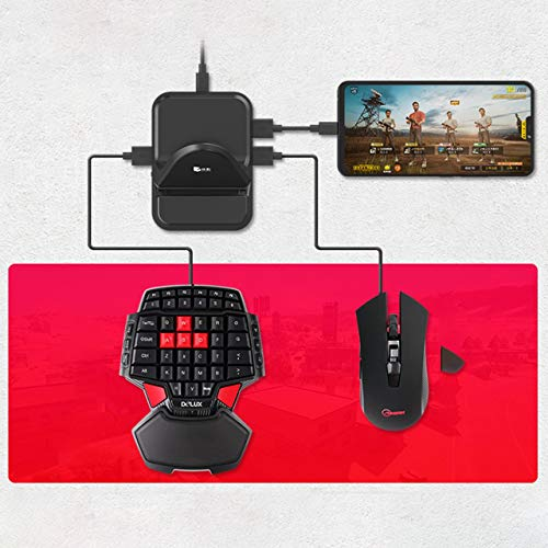 OUYAWEI PUBG Mobile Phone Game Controller Mouse Keyboard Battledock Converter D6 Without Mouse and Keyboard