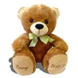 Plüschbär Emmy individuell bestickt 30cm hoch knuddeliges Stofftier individualisiert mit eigenen Daten, Geschenk mit Namen personalisierter Bär, Plüschtier mit Bestickung Teddy zur Geburt   BärEmmy1