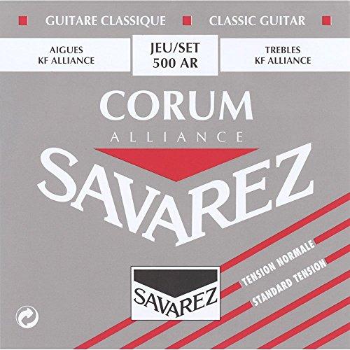 CUERDAS GUITARRA CLASICA - Savarez (500/AR) Corum Alliance Roja (Juego Completo)