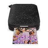 HP Sprocket Impresora fotográfica instantánea portátil de 5x7.6 cm, Imprima imágenes en Papel Adhesivo Zink Desde Sus Dispositivos iOS y Android, Negro