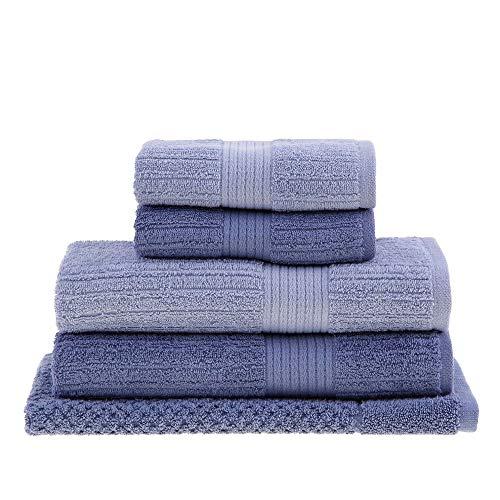 Jogo de toalha de banho Fio Penteado Canelado 5 peças Buddemeyer