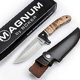 Böker Magnum® Elk Hunter scharfes Fahrtenmesser - feststehendes Messer mit Parierelement...