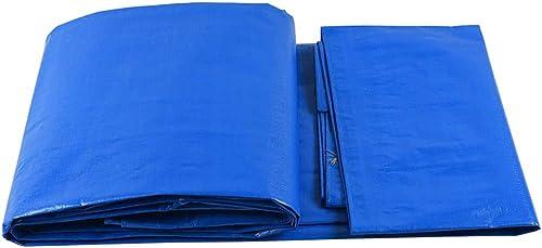 Tarpaulin HUO Camion de Voiture de Parasol de Toile de Prougeection en Plastique de bache imperméable de Prougeection Solaire - Bleu et Blanc (Taille Multiple facultative) (Taille   5  7)
