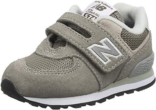 New Balance 574v2 Core Velcro, Entrenadores Unisex Niños, Gris (Grey Grey), 18.5...