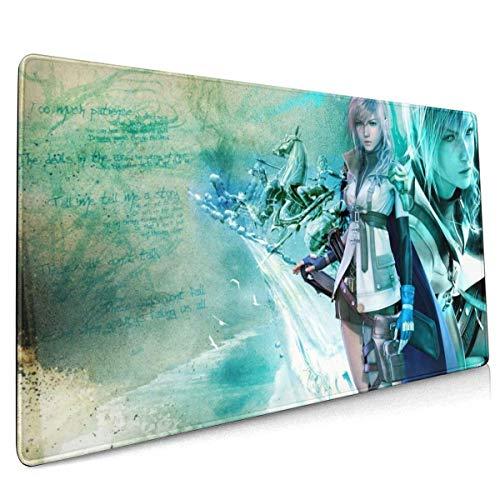 Final Fantasy Game Mauspad Schreibtisch Mousepad Schutztastatur Schreibtisch Mausmatte für Computer/Laptop 35