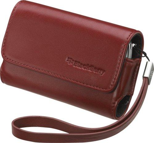 RIM 純正 BlackBerry Bold Leather Folio Horizontal Pouch no belt clip with Strap, Merlot ブラックベリー ボールド ポーチ型 レザーケース (ストラップ付き) メルロー AS