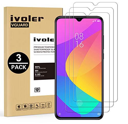 VGUARD [3 Pack] Pellicola Vetro Temperato per Xiaomi Mi 9 Lite, Pellicola Protettiva Protezione per Schermo per Xiaomi Mi 9 Lite