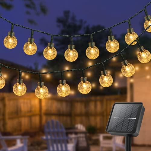 Litogo Guirnaldas Luces Exterior Solar, [8M 80 LED] Cadena de Bola Cristal Luz, IP65 Impermeable 8...