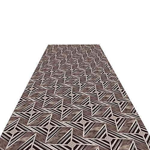 Flur Teppich Läufer Graue Geometrische Teppiche Übergroß, Superior Bodenteppich für Dekoration und rutschfest, Hochzeitsdusche & Geburtstagsgeschenk, Waschmaschinenfest (Size : W80cm x L200cm)