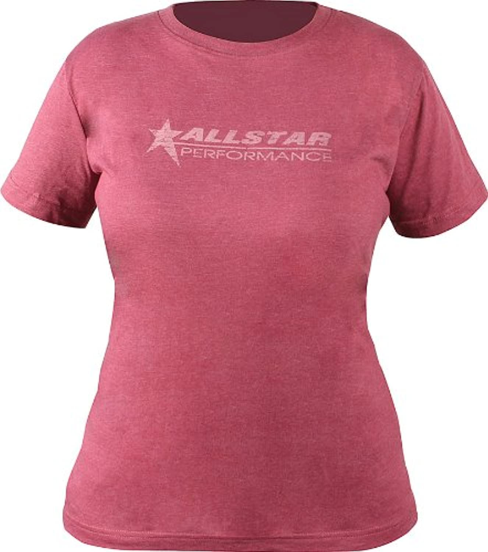 Allstar Performance ALL99920XXL Ladies Vintage TShirt, Burgundy, XXLarge