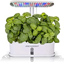 DreiWasser Hydroponics Growing System, 10Pods Indoor Herb Garden Kit with LED Grow Light, Smart Garden Planter with 16H...