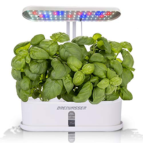 DreiWasser Hydroponics Growing System, 10Pods Indoor Herb Garden Kit with LED Grow Light, Smart...