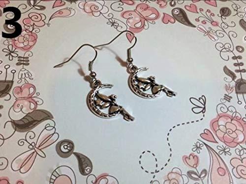Feen & Wunderbare Ohrringe Fee auf Mond, aus Silber, Fee, Tinkerbell