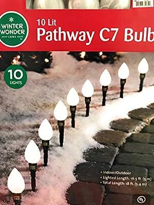 Winter Wonder Lane 10 lit White Pathway C7 Bulbs