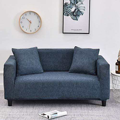 WXQY Fundas de celosía geométrica Funda de sofá elástica Funda de sofá de protección para Mascotas Funda de sofá de Esquina en Forma de L Funda de sofá con Todo Incluido A33 3 plazas