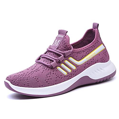 Aerlan Running Shoes with Air Padding,Zapatos Casuales para Correr de montañismo, Zapatos Deportivos Transpirables de Moda-púrpura_39,Zapatos Deportivos para Correr