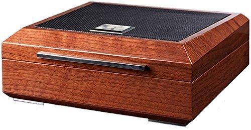 La Madera Cubana Premium Cigar Humidor Luxury Humidor Elegant Leather/Steel Design