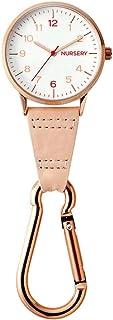 ナースリー ピンクゴールドカラビナ蓄光ウォッチ ナース ナースウォッチ 逆さ文字盤 グッズ 看護 医療 コーラルピンク 1100268A