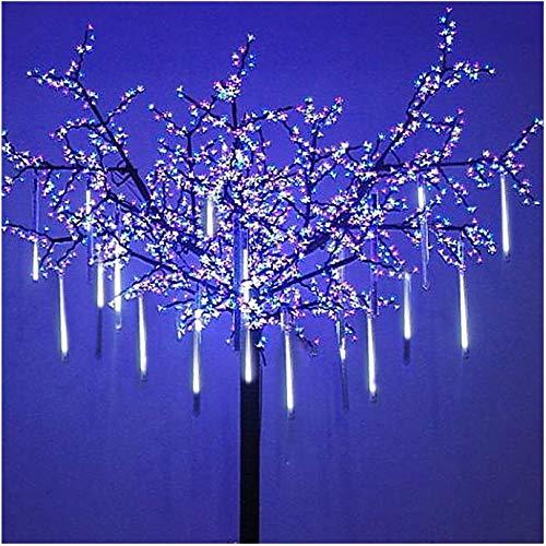 OMGAI LED Meteor Shower Rain Lights - Waterproof Drop Icicle Snow Falling Raindrop 30cm 8 Tubes Cascading Lights for Wedding Xmas Home D