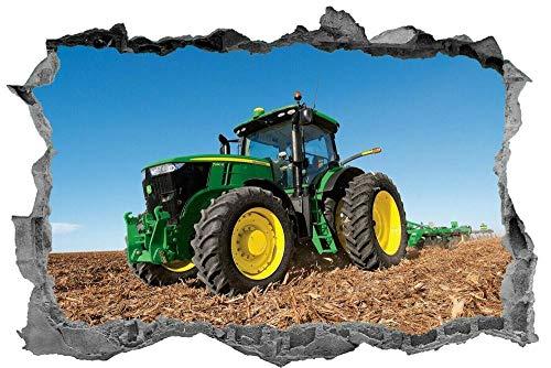 "QAW Wandtattoo""Traktor, Wandkunst, 3D, Aufkleber, Konstruktion, Abziehbild, Wandbild"""