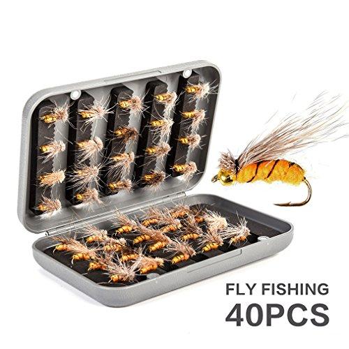 CHSEEO Kit di Esche da Pesca, 40PCS Artificiale Pesca Richiamo Set Esche da Pesca Crankbaits Swimbait Cucchiaini da Pesca Attrezzatura di Pesca Esche Artificiali Perfetto per Pesca #1