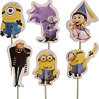 Party2u Los Minions Decoracion Torta Cupcake Pics Topper (24 Unidades)