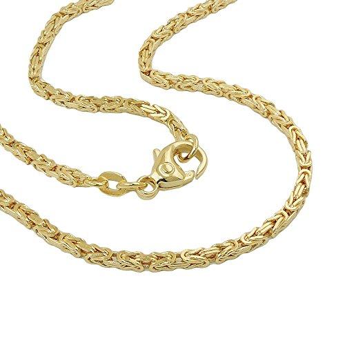 2mm Armband Armkette Königskette Armschmuck; vierkantig, 585 Gold Gelbgold, 19cm