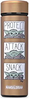Controller Gear The Mandalorian Protect Attack Snack, Vacuum Insulated Stainless Steel Sport Water Bottle, Leak Proof, Wid...