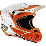 O'NEAL   Casco de Motocross   Motocross Enduro   2 Carcasas Exteriores y 2 EPS para Mayor Seguridad, Carcasa de ABS   Casco de poliacrilita 5SRS Trace   Adulto   Naranja Neón Blanco   Talla XL