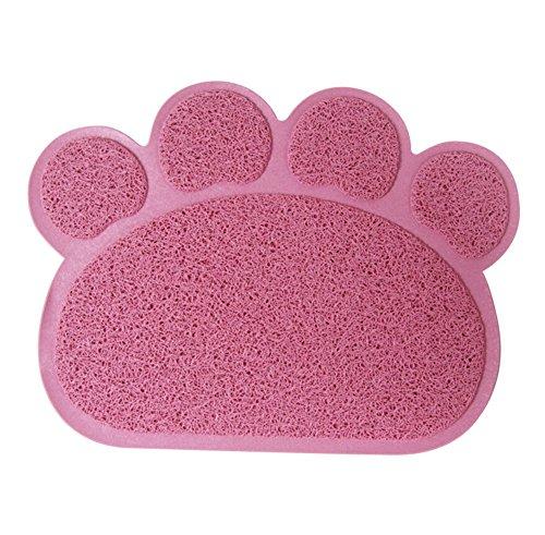 Diyafas Zampa a Forma PVC Gatto Cane Coperta Stuoia Antiscivolo Animale Domestico Mat Litter Tovaglietta