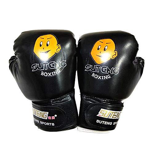 Dasuy Boxing Gloves for Kids Children Junior Training Boxing Gloves Youth Punching Bag Kickboxing Muay Thai Gloves (Black, 1 Pair)