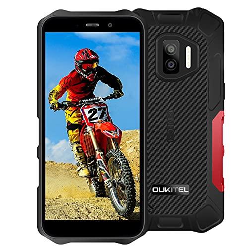 Telefono móvil Resistente OUKITEL WP12, Android 11 Impermeable Smartphone 4GB+32GB, 5' HD+ IP68+ 4000mAh batería, Doble cámara 13MP+5MP, Dual SIM,GPS,NFC, Face ID