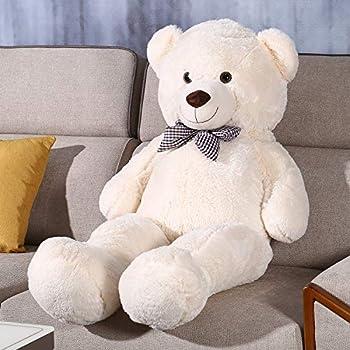 Shayon Giant Teddy Bear Soft Plush Bear Stuffed Animal for Girls Children Girlfriend White 47 inch/1.2M