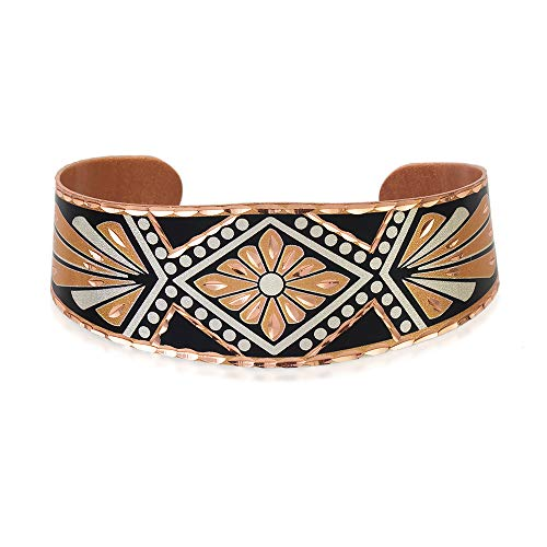 Bracelet Southwest Indien géométrique/quatre éléments/Art déco unisexe en cuivre Art déco fait à la main
