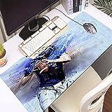 FAQIMEI Alfombrilla Gaming para PC Deportes Jugador de fútbol Americano vistiendo la Camiseta n. ° 14 con Casco sosteniendo l Máxima Precisión con Base de Caucho Natural, Máxima Comodidad