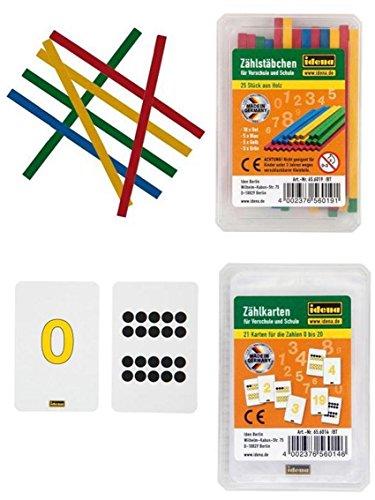 Zählkarten / Zählstäbchen Kombination