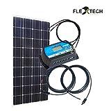 Bausatz: 130W Solarmodul mit Kabel und Laderegler
