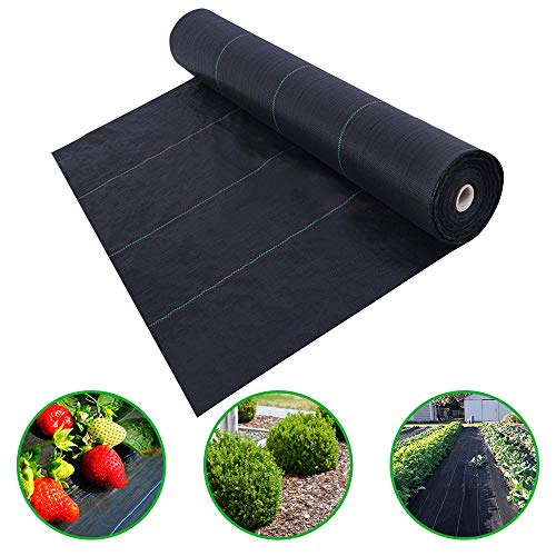 Agfabric 6x300ft Landscape Ground Cover Heavy PP Woven Weed Barrier,Soil Erosion Control and UV stabilized, Plastic Mulch Weed Block